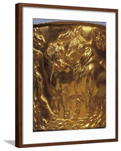 Gold Cup from Tholos Tomb of Vaphia from Sparta--Framed Art Print