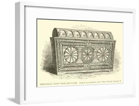 Sepulchral Chest from Jerusalem--Framed Art Print