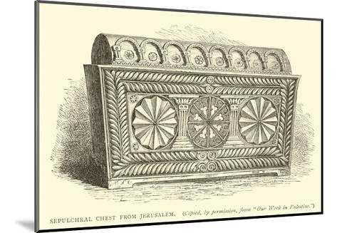 Sepulchral Chest from Jerusalem--Mounted Giclee Print