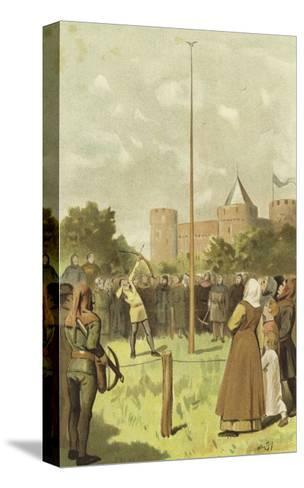 Bird Shooting, Netherlands, 14th Century-Willem II Steelink-Stretched Canvas Print