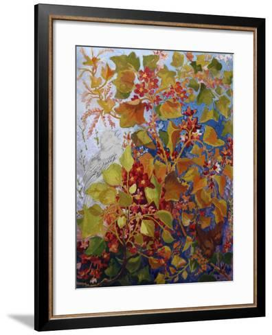 Two Birds in a Bush, C.1930-Louis Wain-Framed Art Print
