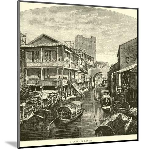 A Canal in Canton--Mounted Giclee Print