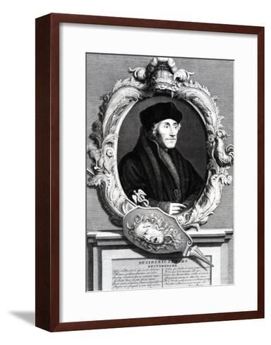 Desiderius Erasmus of Rotterdam--Framed Art Print