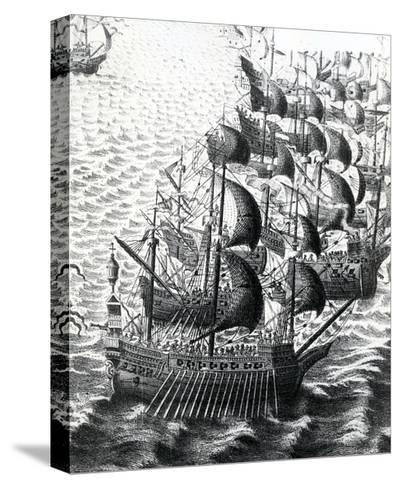 The Spanish Armada, 19th Century--Stretched Canvas Print