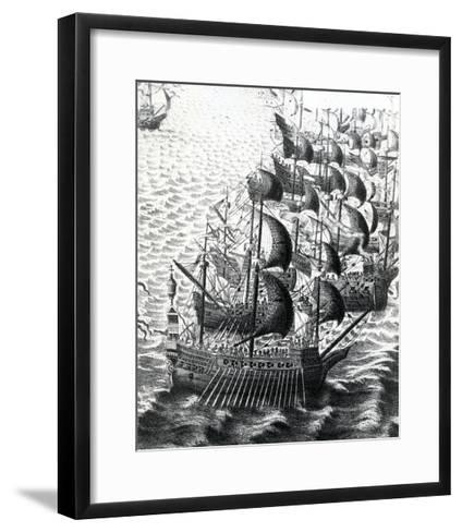 The Spanish Armada, 19th Century--Framed Art Print