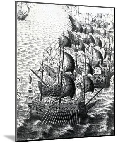 The Spanish Armada, 19th Century--Mounted Giclee Print