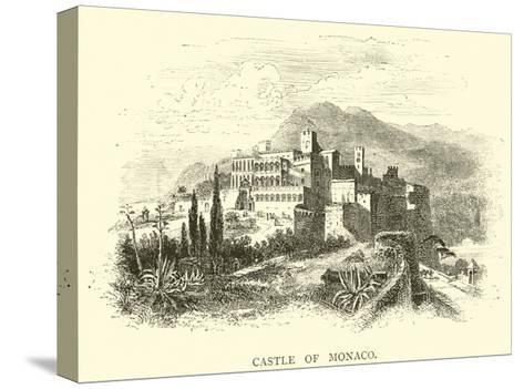 Castle of Monaco--Stretched Canvas Print