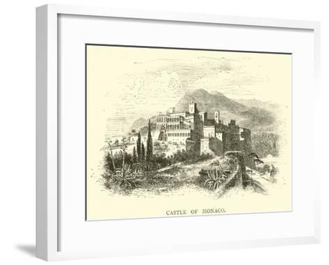 Castle of Monaco--Framed Art Print