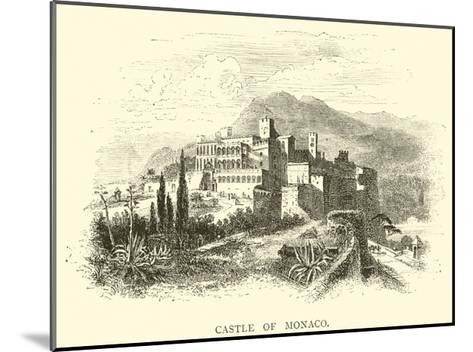 Castle of Monaco--Mounted Giclee Print
