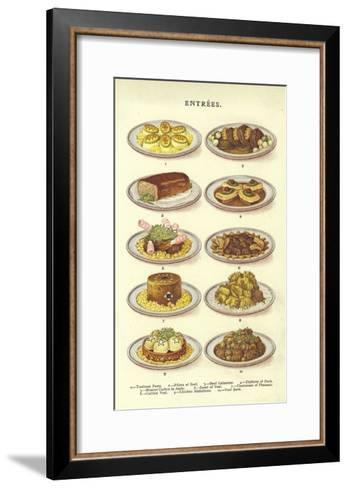 Entrees--Framed Art Print
