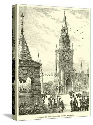 The Spaski or Redeemer Gate of the Kremlin--Stretched Canvas Print