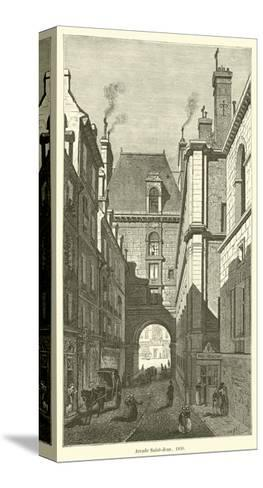 Arcade Saint-Jean, 1830--Stretched Canvas Print