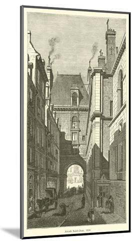 Arcade Saint-Jean, 1830--Mounted Giclee Print