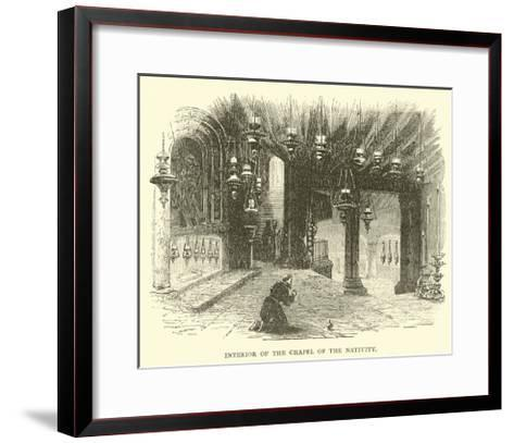 Interior of the Chapel of the Nativity--Framed Art Print