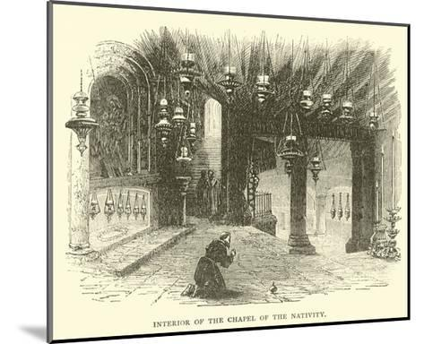 Interior of the Chapel of the Nativity--Mounted Giclee Print