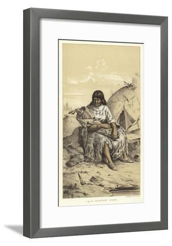 Chippeway Widow--Framed Art Print