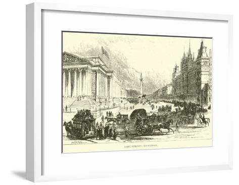 Lime Street, Liverpool--Framed Art Print