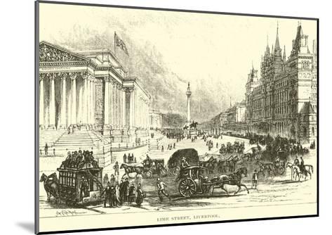 Lime Street, Liverpool--Mounted Giclee Print