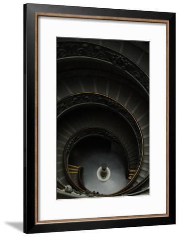 Spiral Stairs-Giuseppe Momo-Framed Art Print