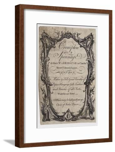 Paper Stainers, Crompton and Spinnage, Trade Card--Framed Art Print