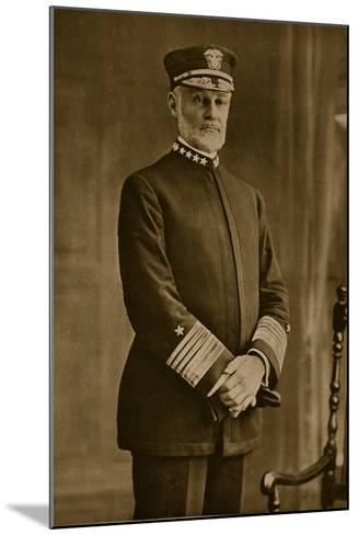 Admiral William Sowden Sims, 1914-19--Mounted Photographic Print
