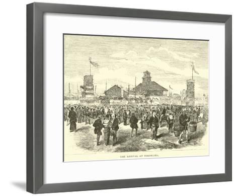 The Arrival at Yokohama--Framed Art Print
