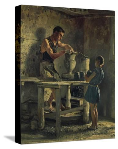 The Potters, 1873-Filippo Palizzi-Stretched Canvas Print
