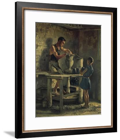 The Potters, 1873-Filippo Palizzi-Framed Art Print