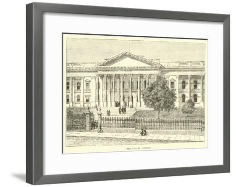 The Public Library--Framed Art Print