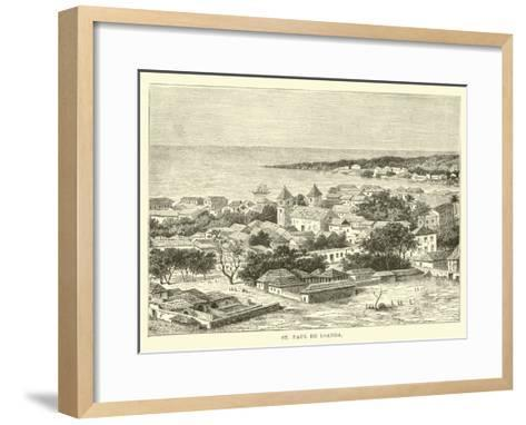 St Paul De Loanda--Framed Art Print