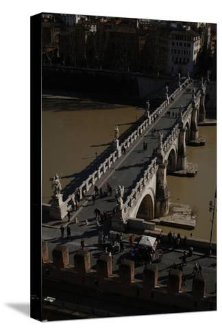 Italy. Rome. Saint Angelo Bridge--Stretched Canvas Print