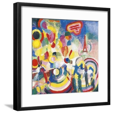 Homage to Bleriot, 1914-Robert Delaunay-Framed Art Print