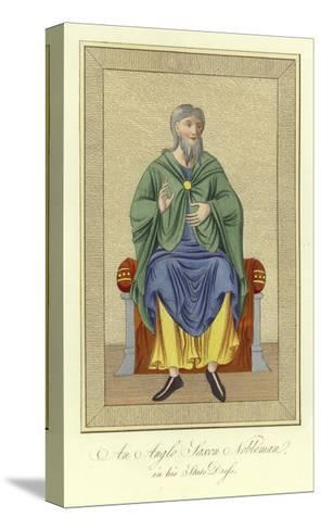 An Anglo-Saxon Nobleman in His State Dress--Stretched Canvas Print