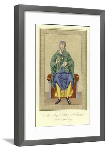 An Anglo-Saxon Nobleman in His State Dress--Framed Art Print