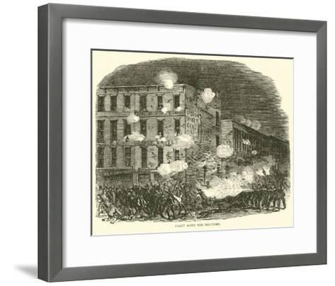 Fight with the Military, July 1863--Framed Art Print