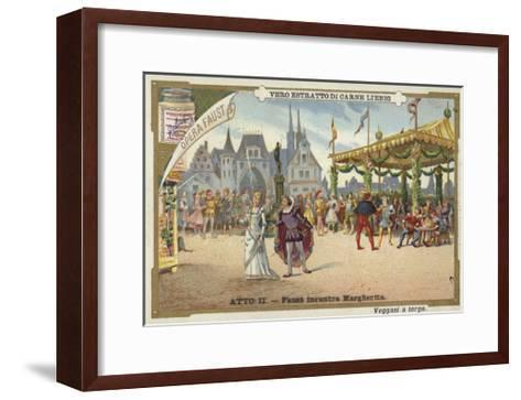 Scene from Faust, an Opera by Charles Gounod--Framed Art Print