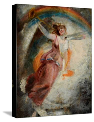 A Herald Angel-John Constable-Stretched Canvas Print