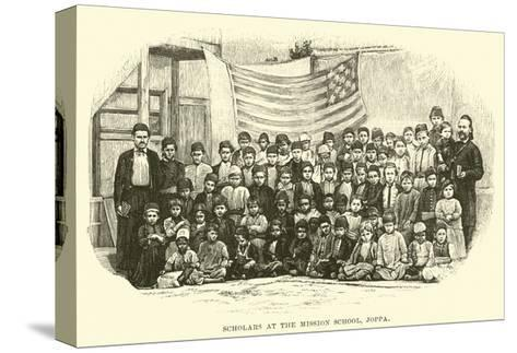 Scholars at the Mission School, Joppa--Stretched Canvas Print