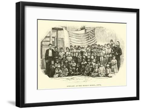 Scholars at the Mission School, Joppa--Framed Art Print