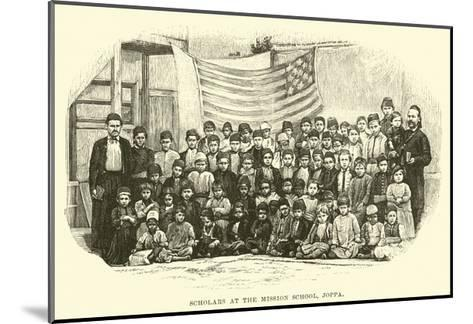 Scholars at the Mission School, Joppa--Mounted Giclee Print