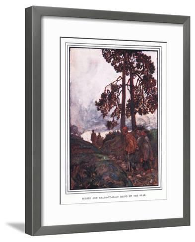 Feeble and Read Y to Halt Bring Up the Rear-John Byam Liston Shaw-Framed Art Print