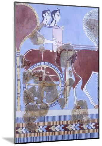 Two Women on Wagon, Fresco from Tirinto Palace--Mounted Giclee Print