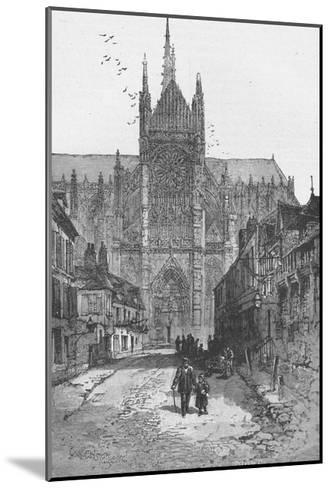 Porch of the Golden Virgin: Amiens Cathedral--Mounted Giclee Print