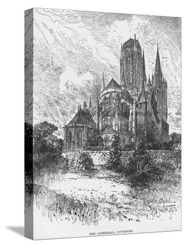 The Cathedral Coutances--Stretched Canvas Print