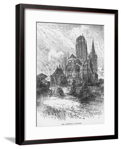 The Cathedral Coutances--Framed Art Print