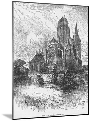 The Cathedral Coutances--Mounted Giclee Print