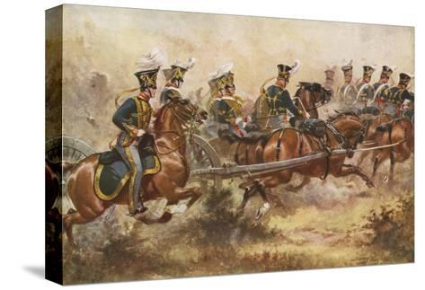Royal Horse Artillery, C1832-Henry Payne-Stretched Canvas Print