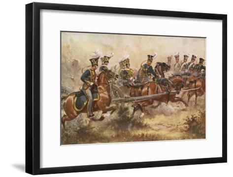 Royal Horse Artillery, C1832-Henry Payne-Framed Art Print