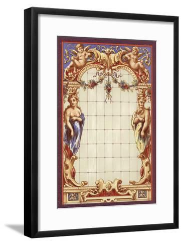 Louis XIII Style Stained Glass--Framed Art Print