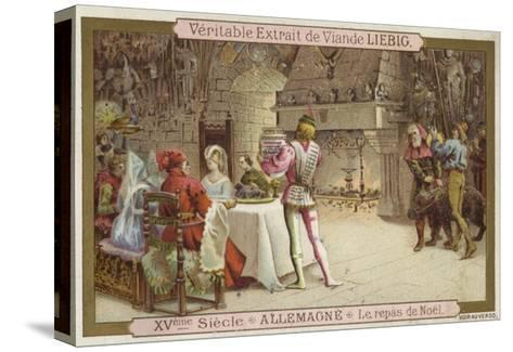 Christmas Feast, Germany, 15th Century--Stretched Canvas Print